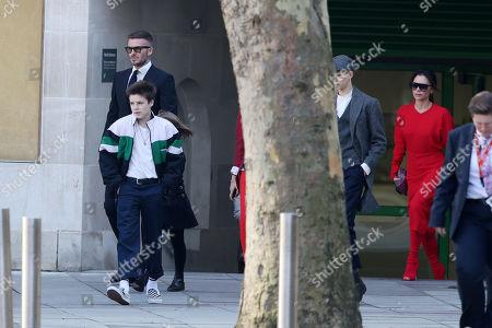 David Beckham, Cruz Beckham, Brooklyn Beckham, Hana Cross, Victoria Beckham