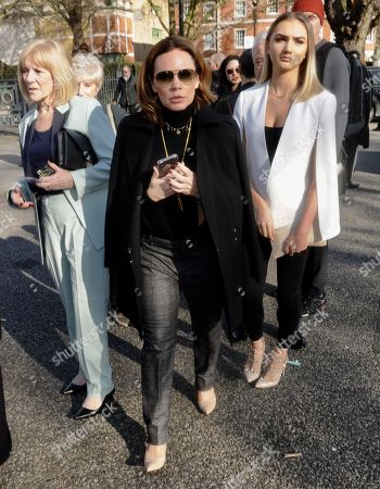 Editorial picture of Victoria Beckham show, Arrivals, Fall Winter 2019, London Fashion Week, UK - 17 Feb 2019