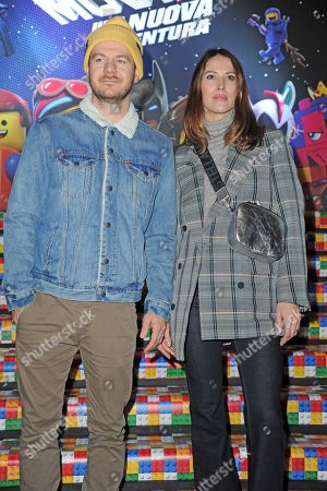 Alessandro Cattelan and wife