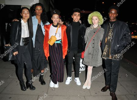 Lily Newmark (2nd right) and the cast of 'Sex Education'