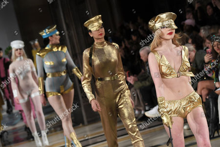 Models and Ellie Rae Winstone on the catwalk