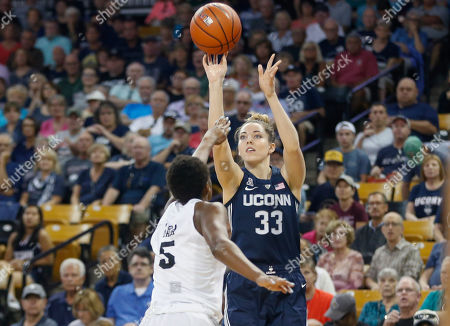 Michael Beasley, Arron Afflalo. Connecticut forward Katie Lou Samuelson (33) shoots over Central Florida forward Masseny Kaba (5) during the first quarter of an NCAA college basketball game in Orlando, Fla., on