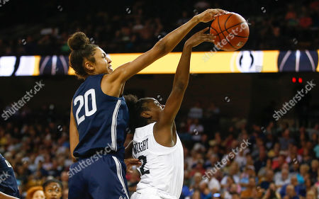 Michael Beasley, Arron Afflalo. Central Florida guard Korneila Wright (2) has her shoit blocked by Connecticut forward Olivia Nelson-Ododa (20) during the second half of an NCAA college basketball game in Orlando, Fla., on