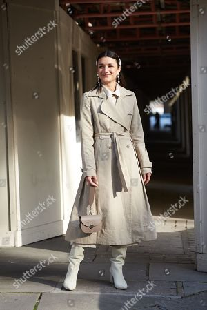 Editorial photo of Street Style, Fall Winter 2019, London Fashion Week, UK - 17 Feb 2019