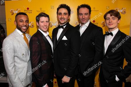 Stock Photo of Ashford Campbell (Dwayne), Llandyll Gove (Dick), Christopher Jordan Marshall (Joe), Sean Needham (Tinsworthy) and Giles Surridge (Josh)