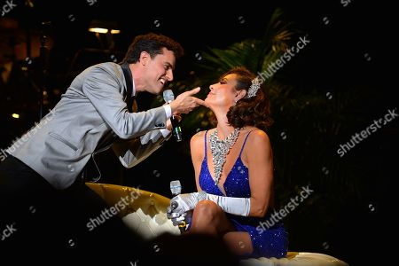 Stock Picture of David Burnham and LuAnn de Lesseps