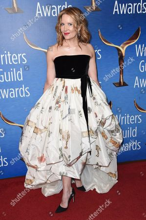 Stephanie Gillis attends the 2019 Writers Guild Awards at the Beverly Hilton Hotel on Sunday, Feb.17, 2019, in Beverly Hills, Calif