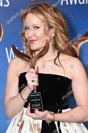 Stock Picture of Stephanie Gillis appears in the press room at the 2019 Writers Guild Awards at the Beverly Hilton Hotel on Sunday, Feb.17, 2019, in Beverly Hills, Calif