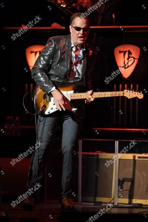 Editorial photo of Anton Fig performs with Joe Bonamassa in concert at The Broward Center, Fort Lauderdale, Florida, USA - 17 Feb 2019