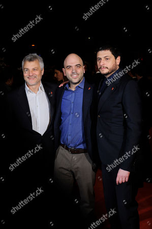 Claudio Giovannesi, Maurizio Braucci and Roberto Saviano