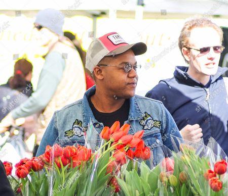 Kyle Massey at the Farmer's Market