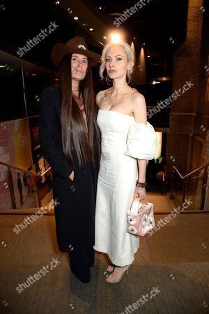 Elizabeth Saltzman and Camilla Fayed