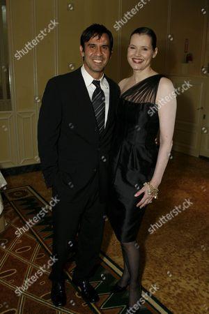 Dr. Reza Jarrahy and wife Geena Davis