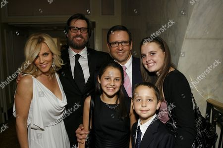 Jenny McCarthy, Jim Carrey, Tony Pritzker and family
