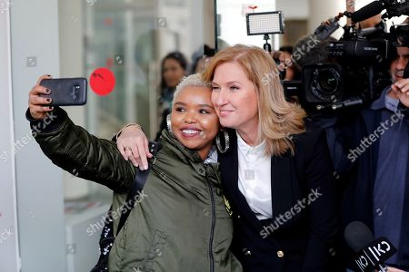Stock Picture of Former Israeli Foreign Minister and former leader of the opposition Tzipi Livni (R) takes a picture with a supporter after a press conference in Tel Aviv, Israel, 18 February 2019. Livni announced retirement from political life and that her party 'Hatnua' (the movement) will not run in the upcoming 2019 elections. Israel will go to elections on 09 April 2019.