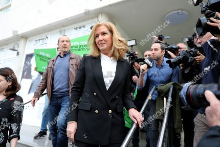 Former Israeli Foreign Minister and former leader of the opposition Tzipi Livni leaves after a press conference in Tel Aviv, Israel, 18 February 2019. Livni announced retirement from political life and that her party 'Hatnua' (the movement) will not run in the upcoming 2019 elections. Israel will go to elections on 09 April 2019.