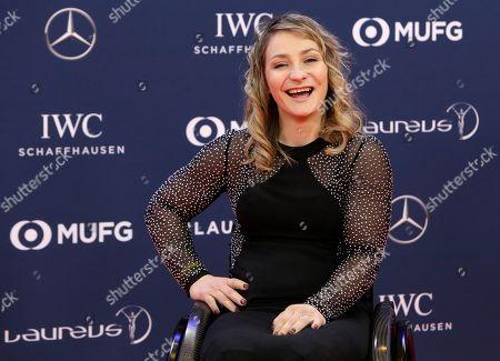 Cyclist Kristina Vogel smiles as she