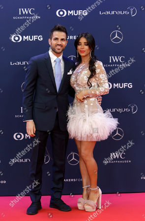 Stock Picture of Soccer player Cesc Fabregas and wife Daniella Semaan
