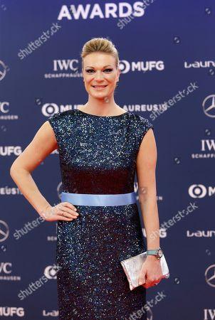 Former ski racer Maria Hoefl-Riesch of Germany