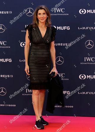 Former tennis player Monica Seles arrives for the 2019 Laureus World Sports Awards