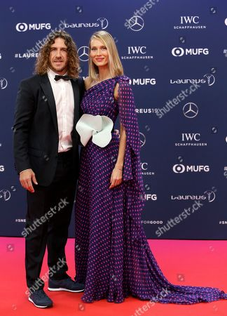 Former Barcelona captain Carles Puyol and his wife Vanessa Lorenzo