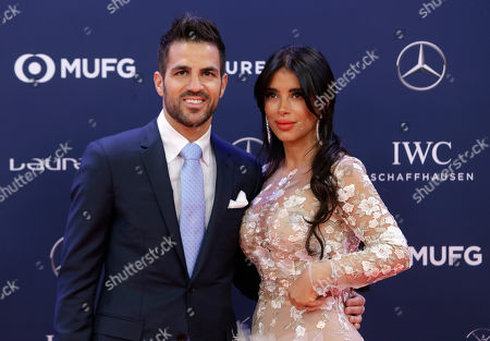 Soccer player Cesc Fabregas and wife Daniella Semaan
