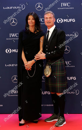 Former F1 driver David Coulthard and his wife Karen Minier