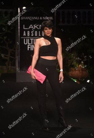 Mandira Bedi on the catwalk