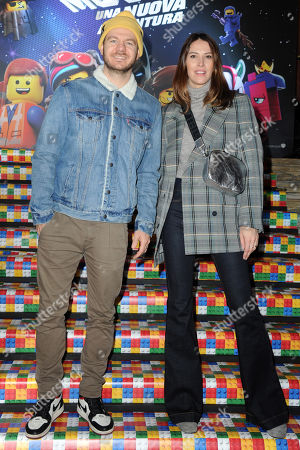 Alessandro Cattelan and his wife