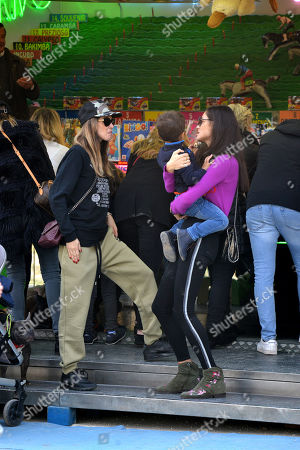 Editorial picture of Melissa Satta and Marica Pellegrinelli out and about, Milan, Italy - 17 Feb 2019
