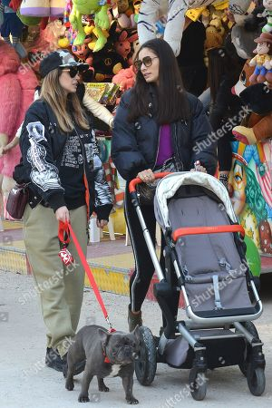 Editorial photo of Melissa Satta and Marica Pellegrinelli out and about, Milan, Italy - 17 Feb 2019