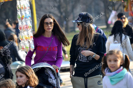 Editorial image of Melissa Satta and Marica Pellegrinelli out and about, Milan, Italy - 17 Feb 2019