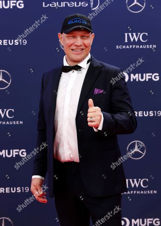 German former boxer Axel Schulz arrive at the 2019 Laureus World Sports Awards in Monaco, 18 February 2019. The annual Laureus Awards are held to honor people whom make a notable impact and remarkable accomplishments in the world of sport throughout the year.