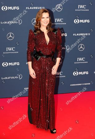 Katarina Witt arrives at the 2019 Laureus World Sports Awards in Monaco, 18 February 2019. The annual Laureus Awards are held to honor people whom make a notable impact and remarkable accomplishments in the world of sport throughout the year.