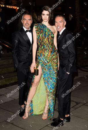 Alexandra Micu with Dan and Dean Caten