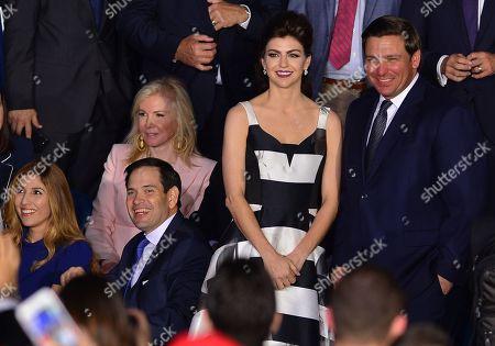 Jeanette Dousdebes Rubio, Senator Marco Rubio (R-FL), Hilary Geary, Jill Casey DeSantis and Florida Governor Ron DeSantis