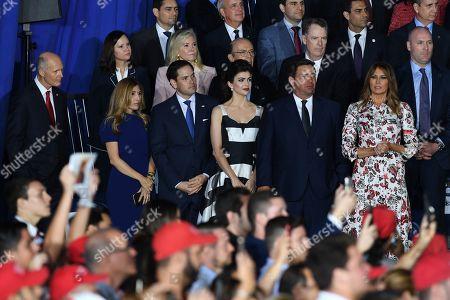 Stock Photo of Jeanette Dousdebes Rubio, Marco Rubio, Casey DeSantis, Ron DeSantis, Melania Trump