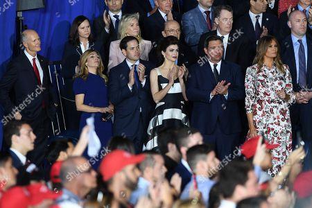 Jeanette Dousdebes Rubio, Marco Rubio, Casey DeSantis, Ron DeSantis, Melania Trump