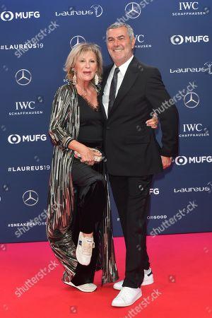 Stock Photo of Sabine Christiansen and Mann Norbert Medus