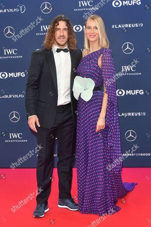 Stock Photo of Carles Puyol and Vanessa Nadales