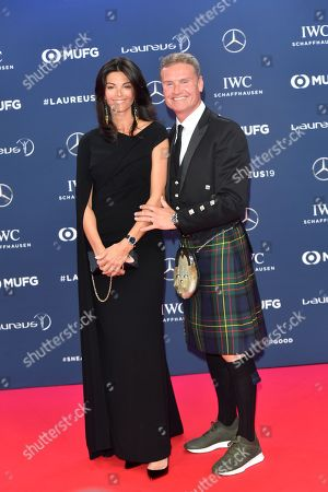 Stock Image of Coulthard David and girlfriend Karen Minier