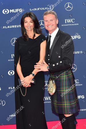 Coulthard David and girlfriend Karen Minier