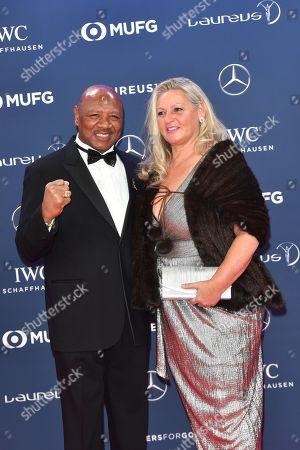 Marvin Hagler and wife Kay Guarrera