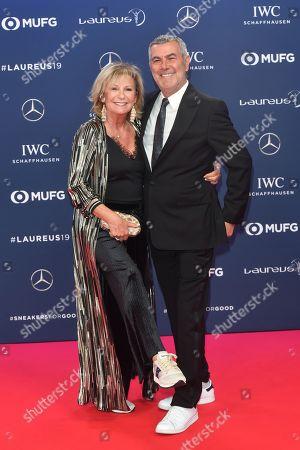 Sabine Christiansen and Mann Norbert Medus