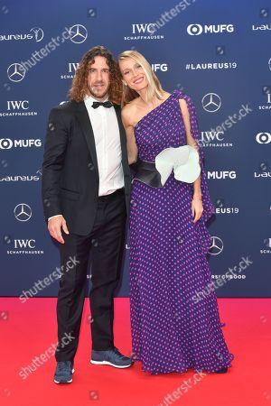 Carles Puyol and Vanessa Nadales