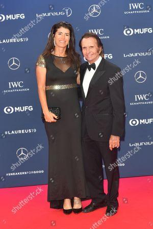 Emerson Fittipaldi and Frau Rossana Fanucchi