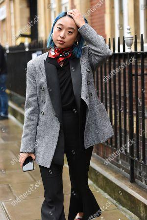 Editorial image of Street style, Fall Winter 2019, London Fashion Week, UK - 18 Feb 2019