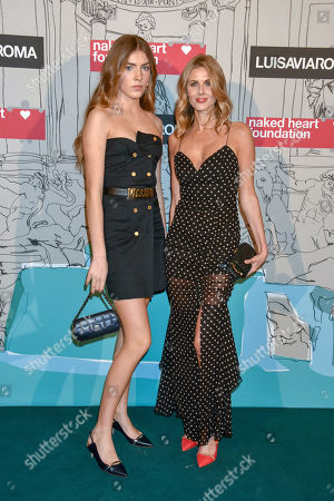 Stock Photo of Freya Air Aspinall and her mother Donna Air