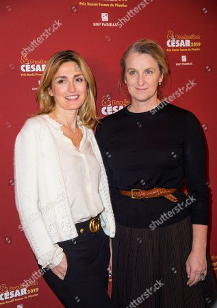 Stock Picture of Julie Gayet and Nadia Turincev