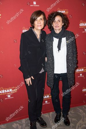 Stock Picture of Catherine Corsini and producer Elisabeth Perez